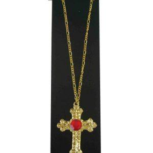 Sinterklaas Kruis Goud met Steen (12026)