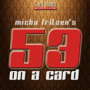 53 on a Card Trick - set of two (4192)