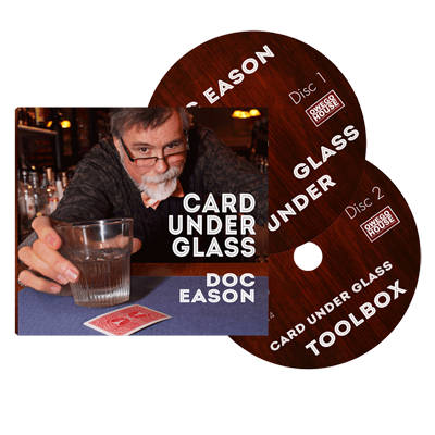 Doc Eason Card Under Glass (2 DVD set) by Kozmomagic (DVD847)