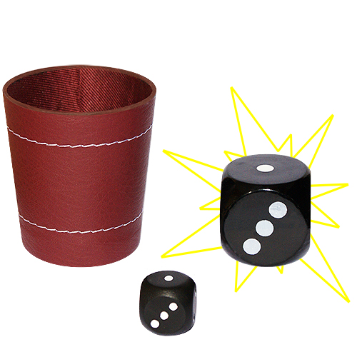 Dice Chop Cup with Dice (3886)