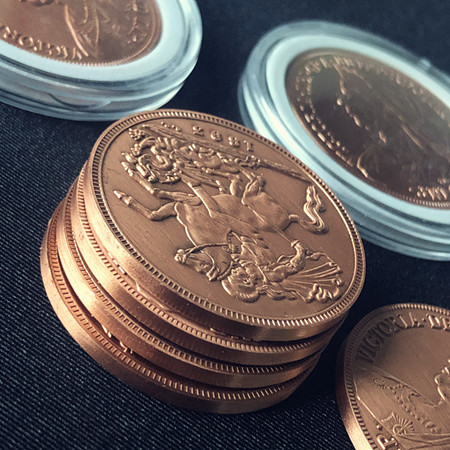 Dollar Size Copper Victoria Coin Replica (3228)