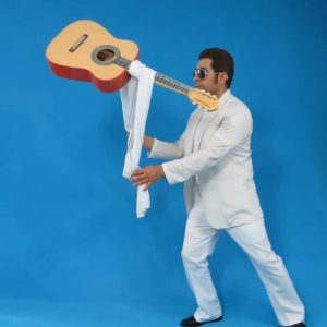 Floating Guitar with Metal Suitcase (0123)