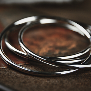 Chrome Linking Rings 10 cm by TCC (3823)