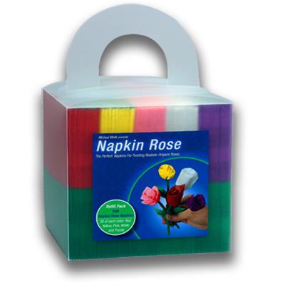 Napkin Rose Cube (0029X11)