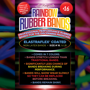 Joe Rindfleisch's Rainbow Rubber Bands #16 Rainbow Colors (4877)