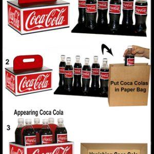 Vanishing & Appearing Cola Bottles by Tora Magic (4438)