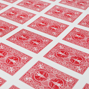 Bicycle Poker Cards Uncut Sheets Red (5064)