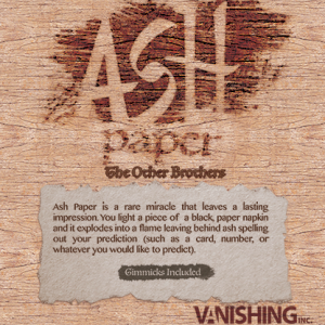 Ash Paper by the Other Brothers (4273-W10)