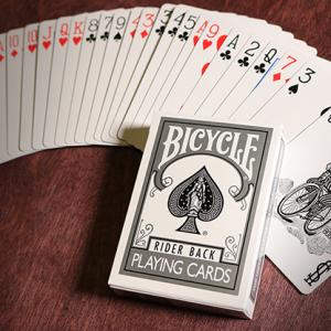 Bicycle Poker Spel Zilver (4658)