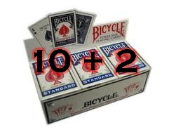 Bicycle Poker Kaarten BLAUW 10 + 2 Gratis OP=OP (0007)