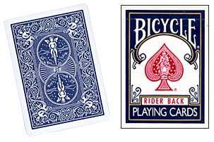Bicycle Poker Kaartspel Klassiek BLAUW 10+2 gratis