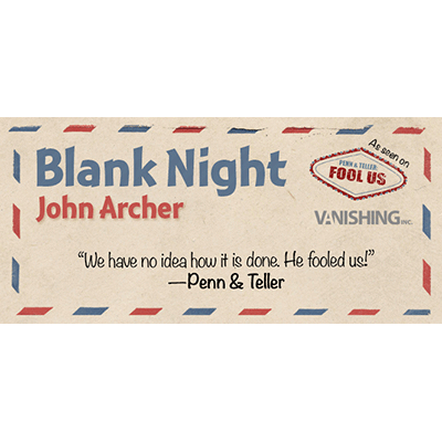 Blank Night (Blue) by John Archer (3427)