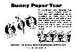 Bunny Paper Tear (0008X12)