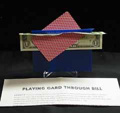 Card Thru Borrowed Bill (1721)