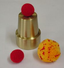 Chop Cup Mini Solid Brass & Online Video (2039)