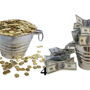 Coin Bucket 3 Times by Tora Magic (4434)