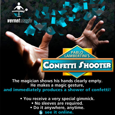 Confetti Shooter by Vernet Magic (3233-w3)