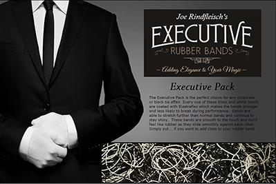 Joe Rindfleisch Executive Rubber Bands Black-White Combo (4633)