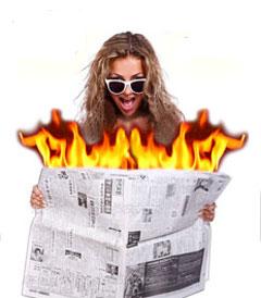 Fire Newspaper by Tora Magic (3791H4)