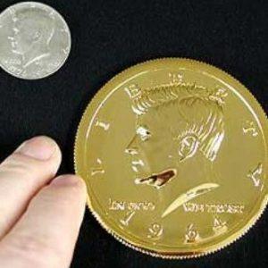 Jumbo Half Dollar Goud 7.5 cm (3224)