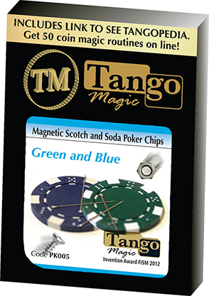 Scotch and Soda Magnetic with Poker Chips by Tango (3153)