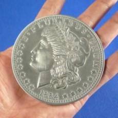 Morgan Dollar Jumbo Munt 7,5 cm (3151)