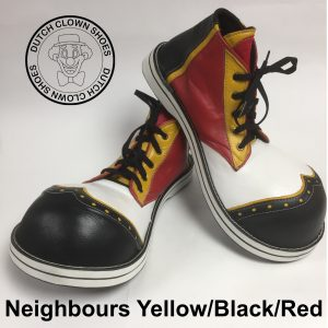 Clowns Schoenen Neighbours Black-Yellow-Red