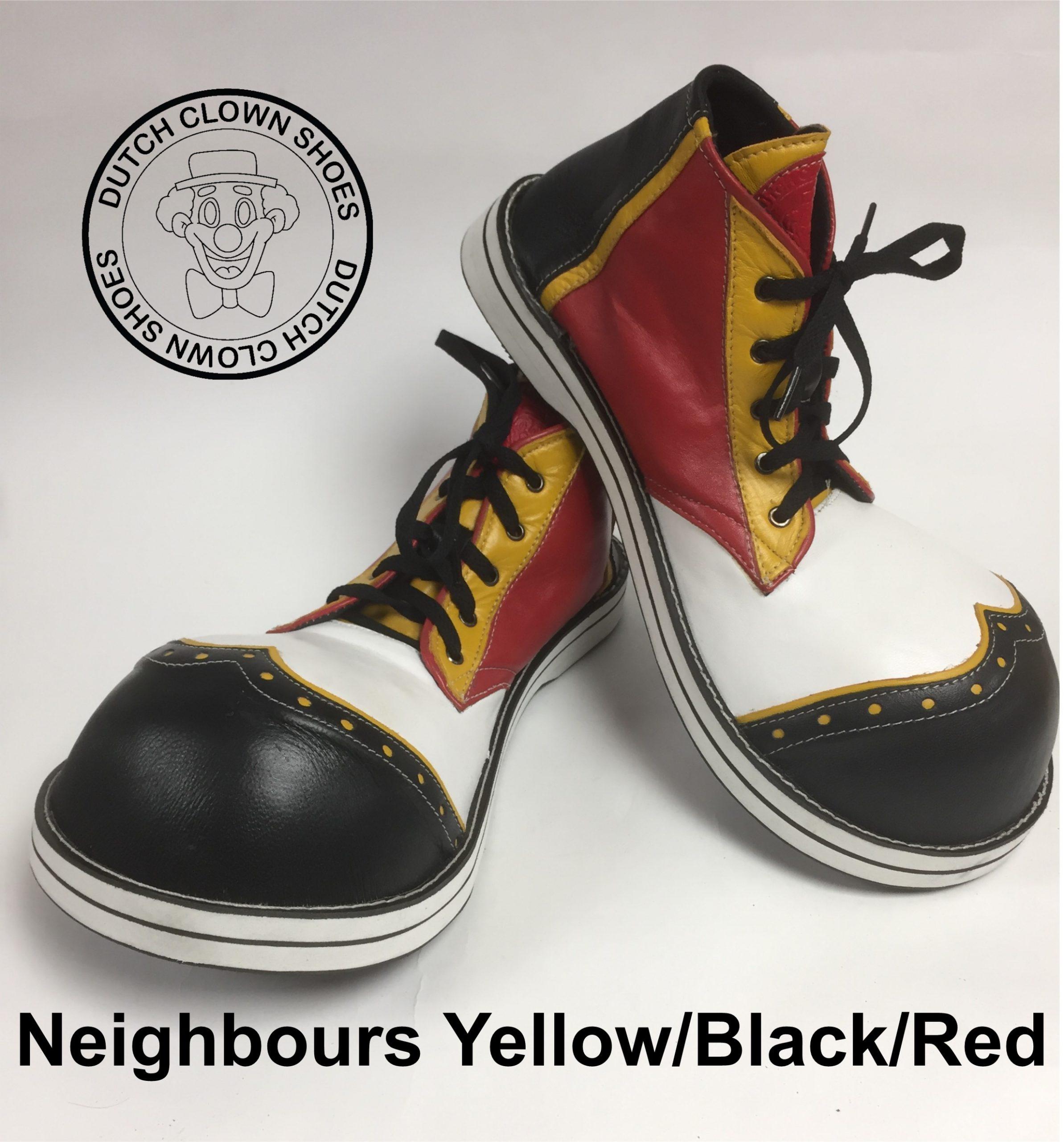 Clowns Schoenen Neighbours Black-Yellow-Red