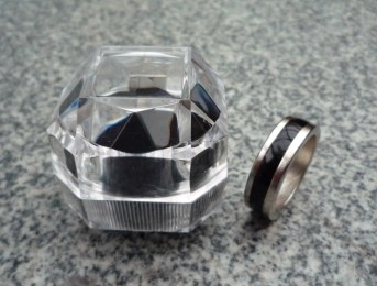 PK Ring Zwart-Zilver 19 mm (2939)