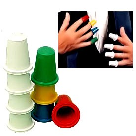 Thimbles White & Multicolor Set (3333-w3)