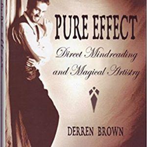 Pure Effect Book By Derren Brown 3rd Edition GEBRUIKT