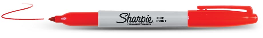 Sharpie Permanent Rood (1123)