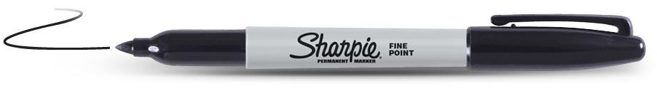 Sharpie Permanent Zwart (1122)