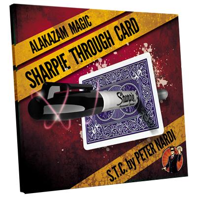 Sharpie Through Card DVD and Gimmick by Alakazam Magic (3510-w7)