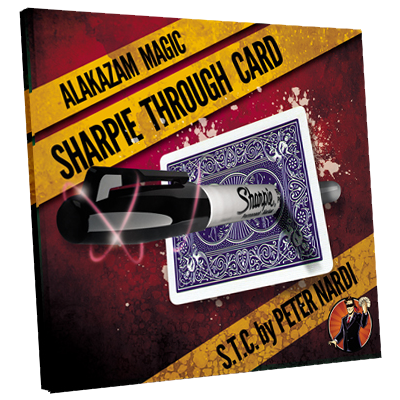 Sharpie Through Card DVD and Gimmick by Alakazam Magic (3510-w7)