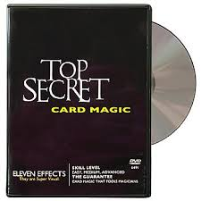 Top Secret Card Magic DVD (DVD907)