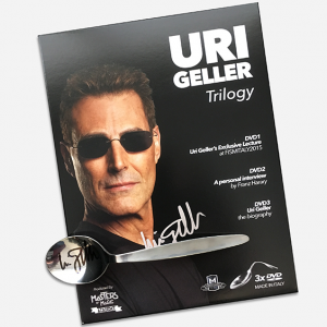 Uri Geller Trilogy with Signed Spoon & Signed Box