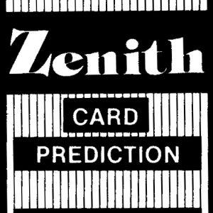 Zenith Card Prediction (2342)